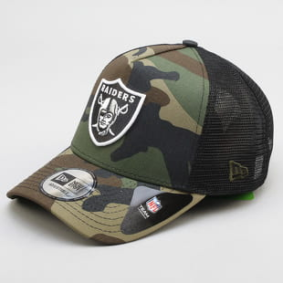 New Era 940 Camo Team Aframe Trucker Raiders C/O