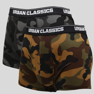 Urban Classics 2-Pack Camo Boxer Shorts