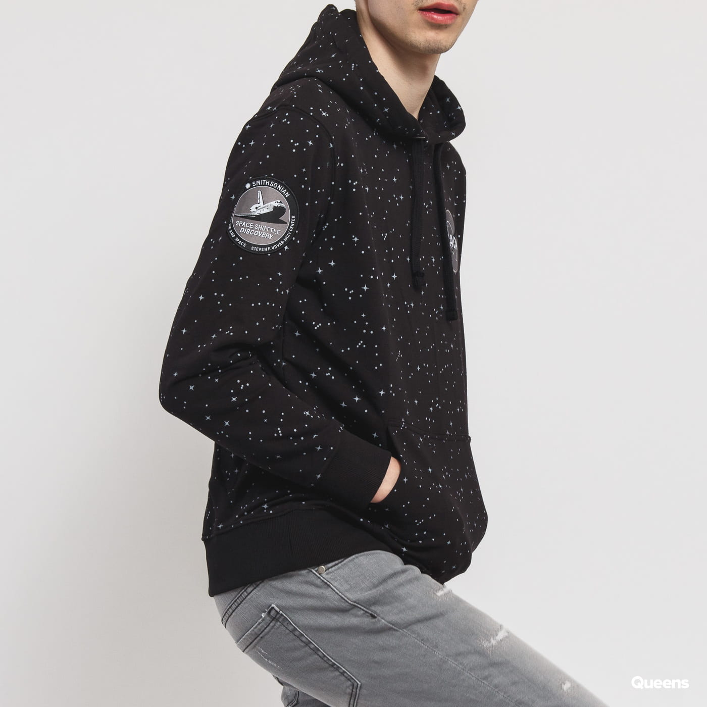 Alpha Industries NASA Starry Hoody black