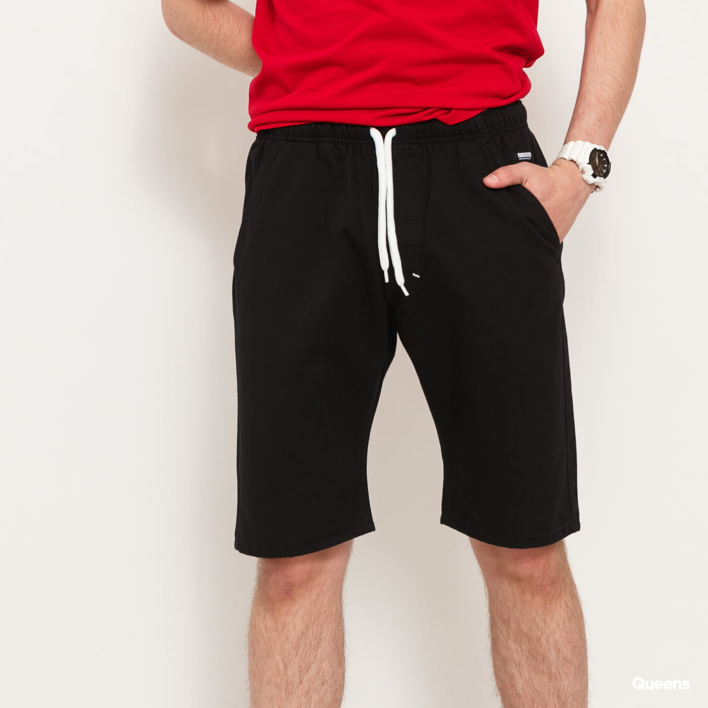Mass DNM Signature Straight Fit Shorts čierne