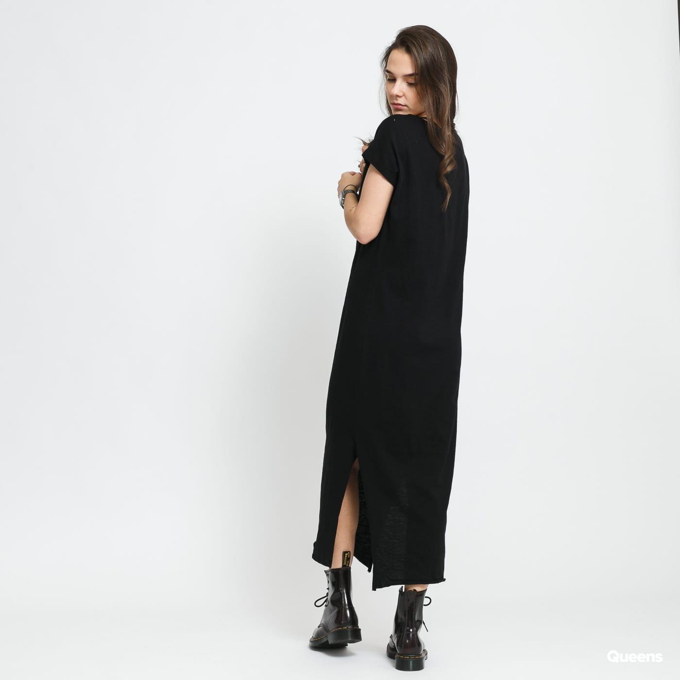 Urban Classics Ladies Slub Long Dress black