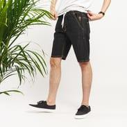 Mass DNM Signature Straight Fit Shorts black rinse