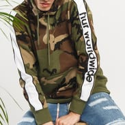 HUF Worldwide Hooded Sweatshirt camo zelená