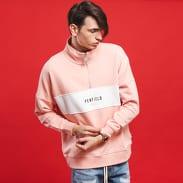 Penfield Hosmer Sweat světle růžová / bílá