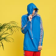 Nike M NSW Taped Half Zip Hood modrá