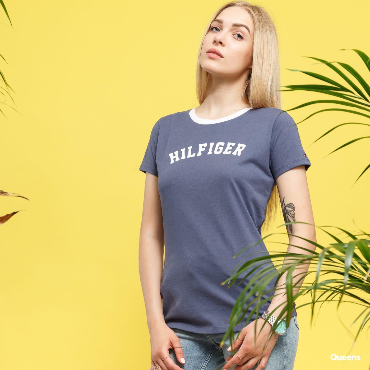 Dámské tričko Tommy Hilfiger SS Tee Print (UW0UW00091 418) – Queens 💚 e572746579a