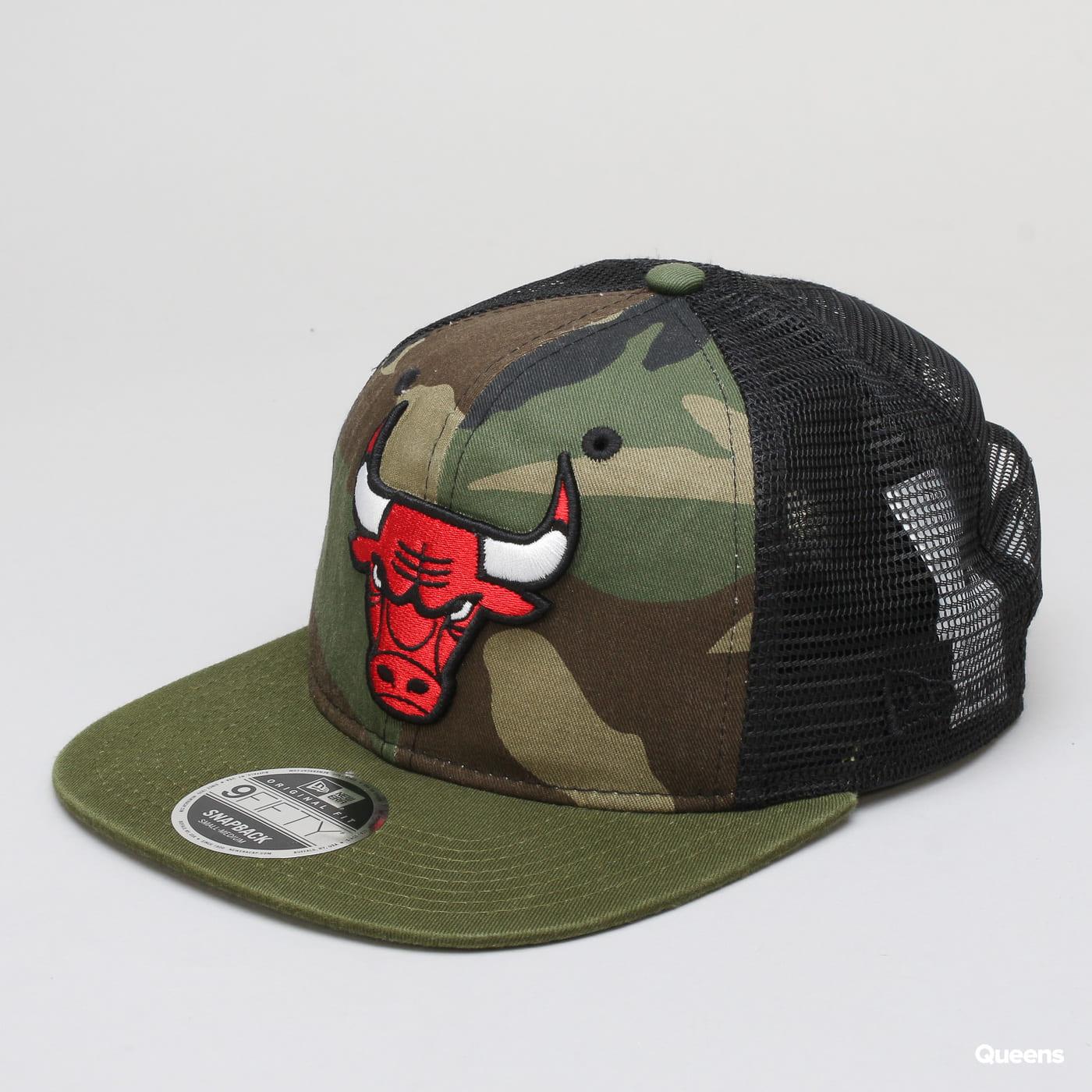 New Era 950 NBA Washed Camo Snapback Chicago Bulls camo zelená / čierna / olivová