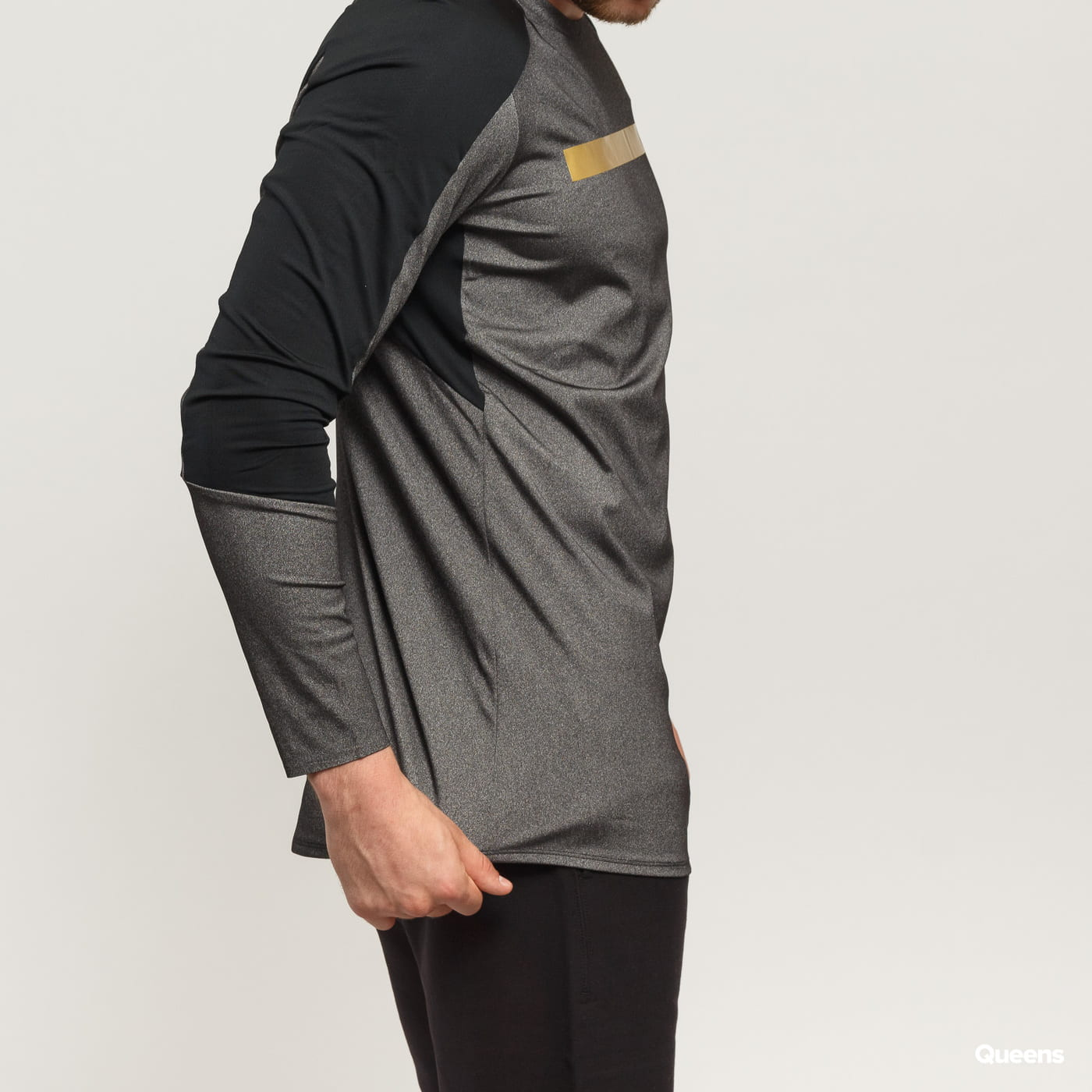 Under Armour Perpetual Fitted LS šedé / čierne