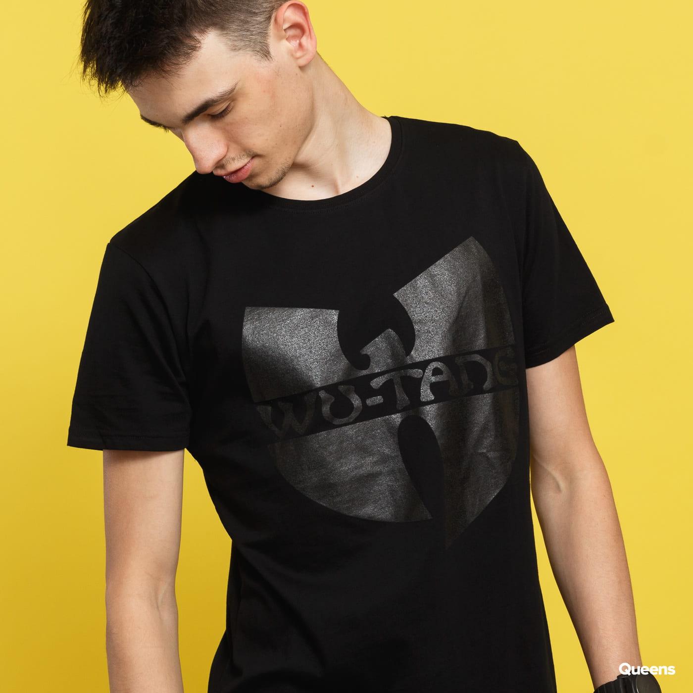 WU WEAR Black Logo T-Shirt čierne