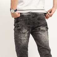 Sixth June Biker Speckled Jeans dark grey
