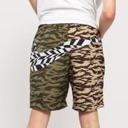 Nike M NSW VW AOP Swoosh Short camo béžové / hnědé / zelené