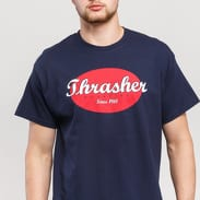 Thrasher Oval Tee navy