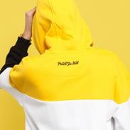 WU WEAR Block Hoody žltá / biela / čierna