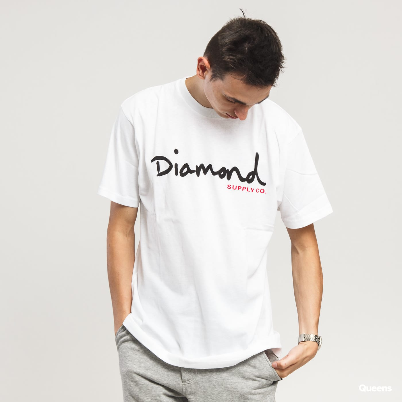 Diamond Supply Co. OG Script Tee biele