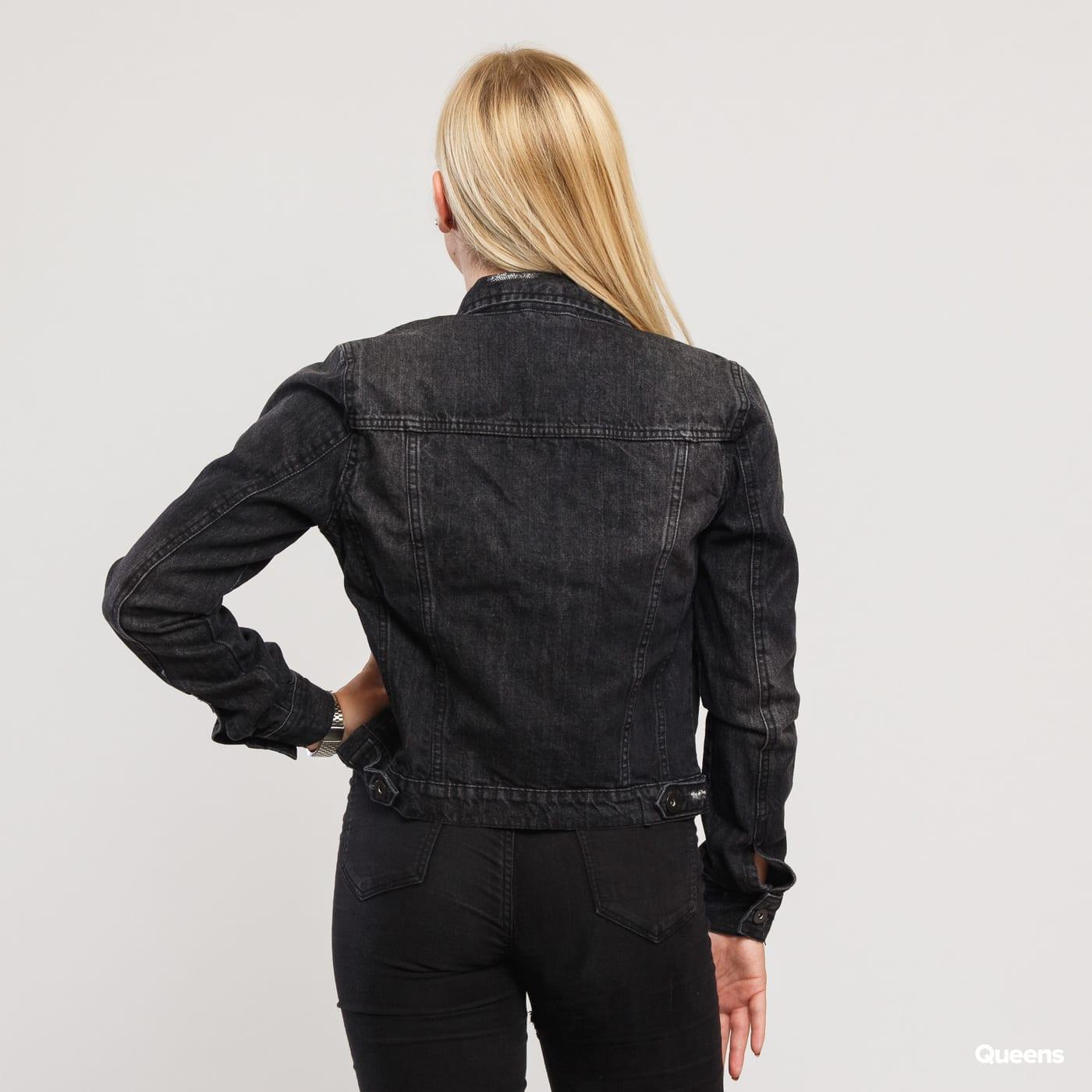 Urban Classics Ladies Denim Jacket schwarz gewaschen
