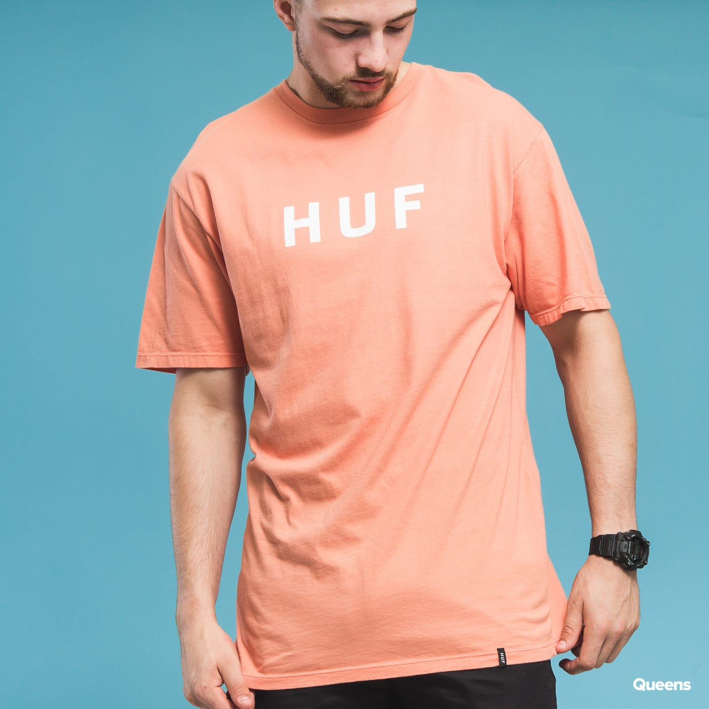 HUF Essentials OG Logo SS orange