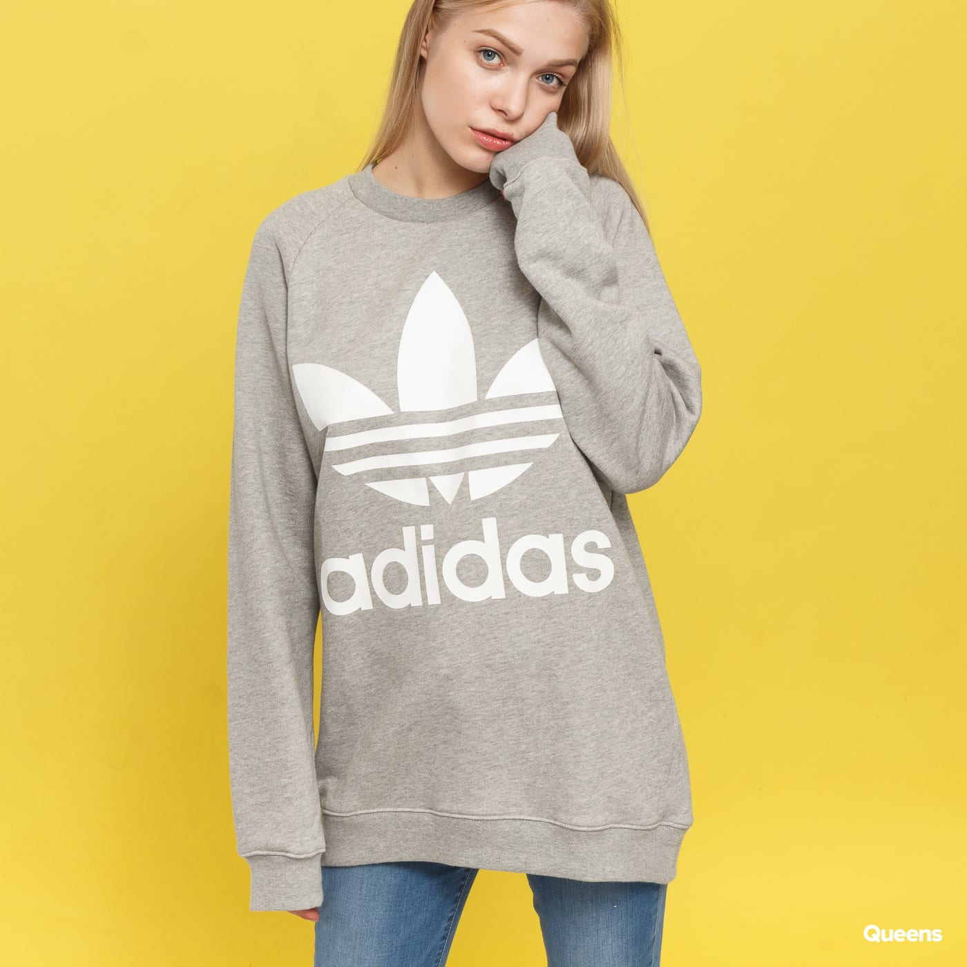Dámská mikina adidas Originals Oversized Sweat (DH3125) – Queens 💚 2b75bd8c4ad