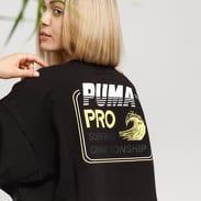Puma Cropped Crew Neck Tee schwarz