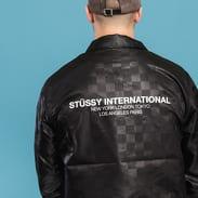 Stüssy Tonal Check Jacket černá