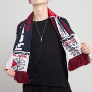 Reebok CL Football Fam Scarf navy / červená / bílá
