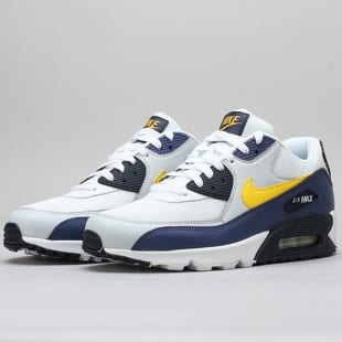 the best attitude 5ea6a 5915c Nike Air Max 90 Essential white   tour yellow - blue recall
