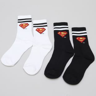 Urban Classics Superman Socks Double Pack