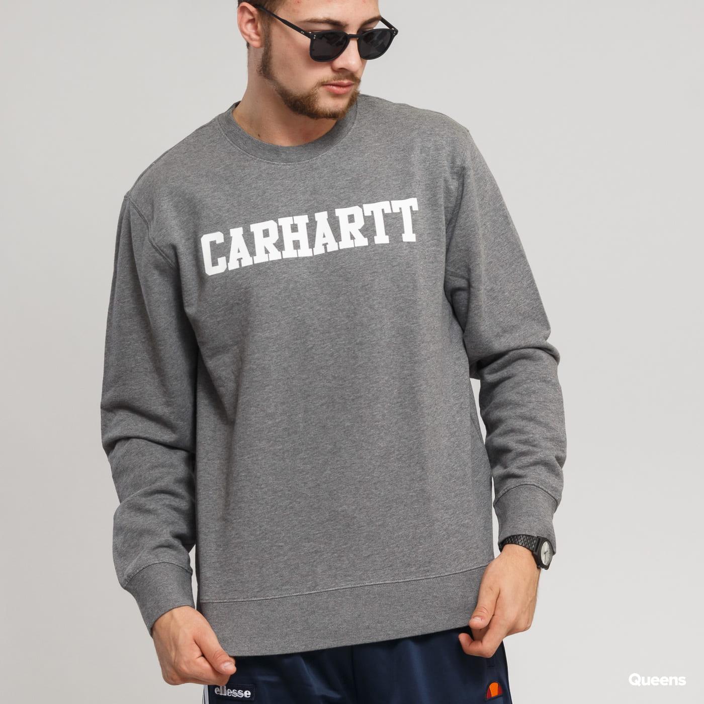 Carhartt WIP College Sweat dunkelgrau melange