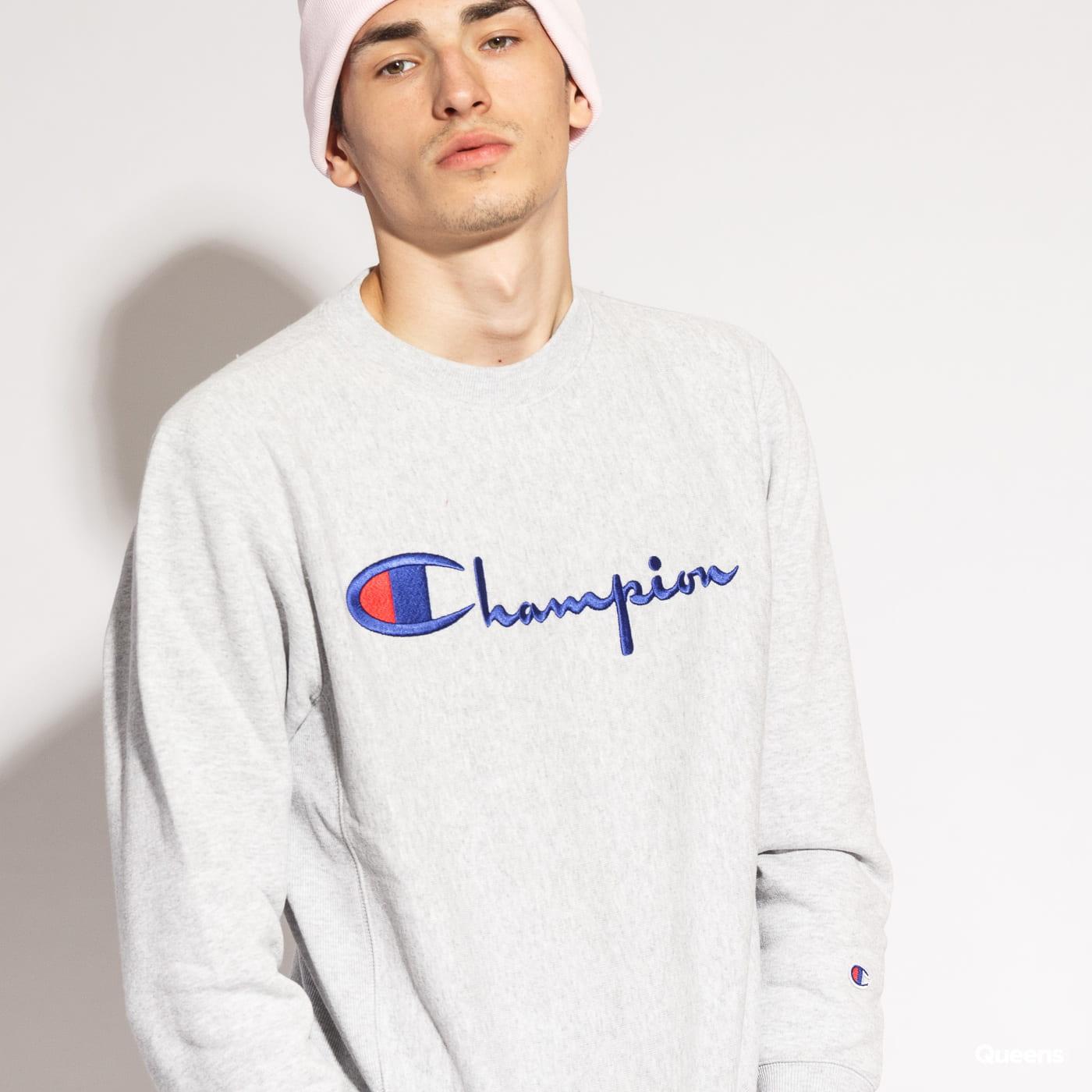 Champion Crewneck Sweatshirt melange šedá