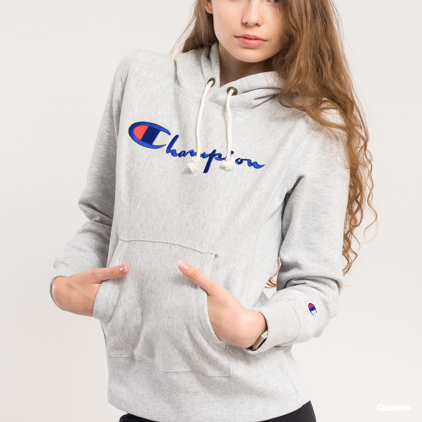 Champion Hooded Swetshirt melange gray