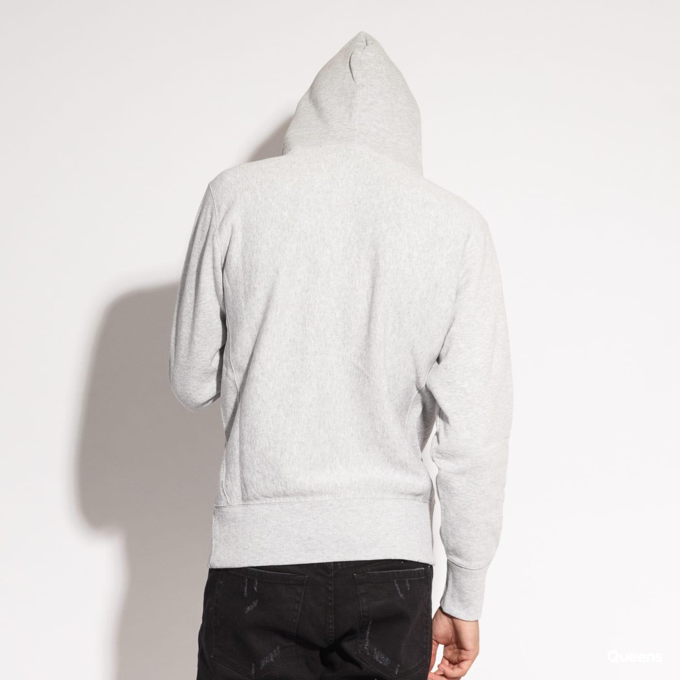 Champion Reverse Weave Hooded melange šedá