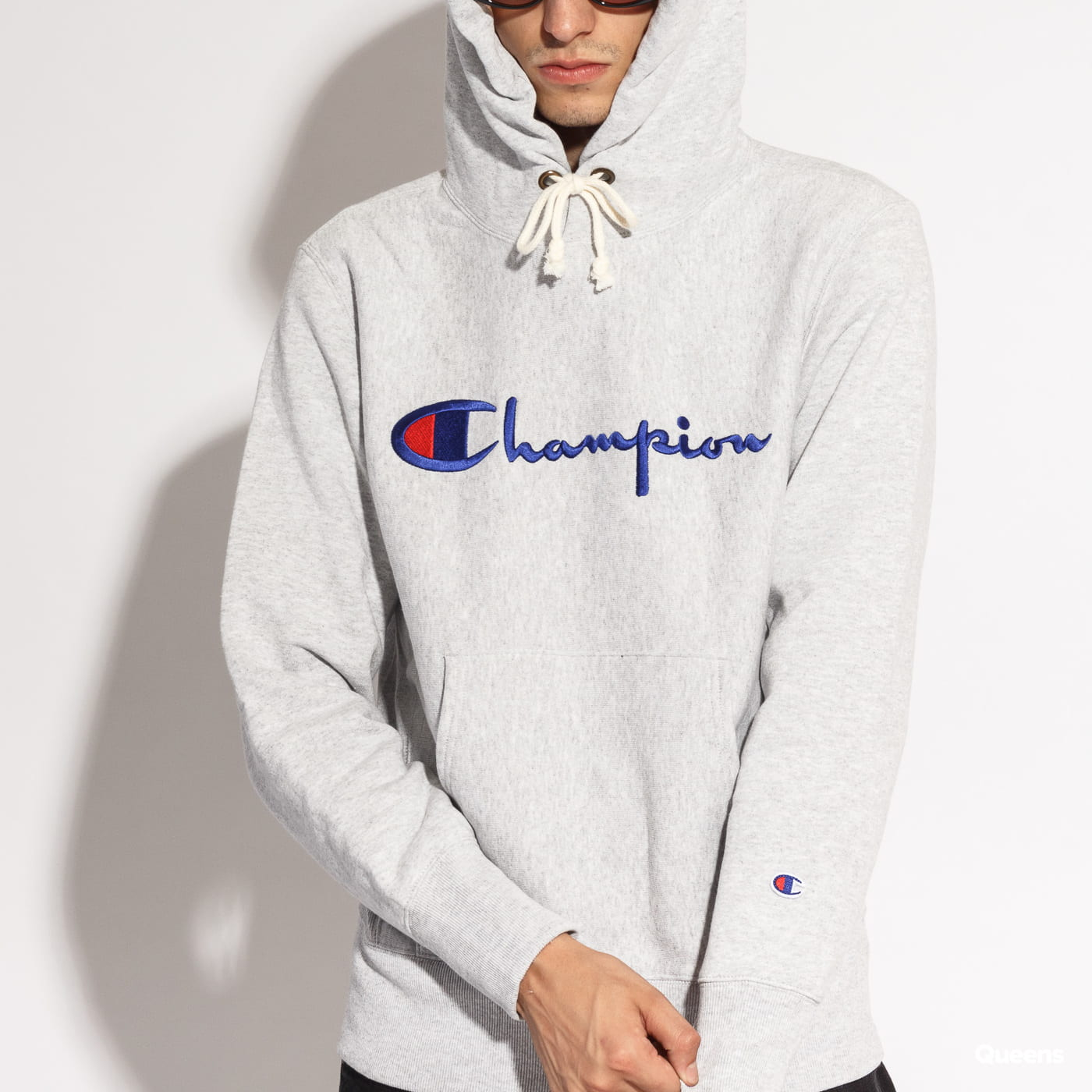 Champion Reverse Weave Hooded grey melange