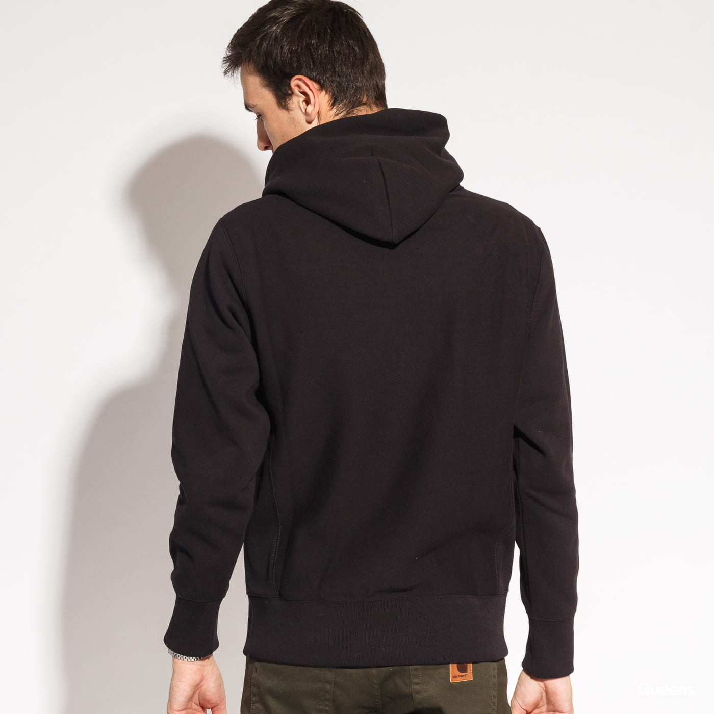 Champion Reverse Weave Hooded čierna