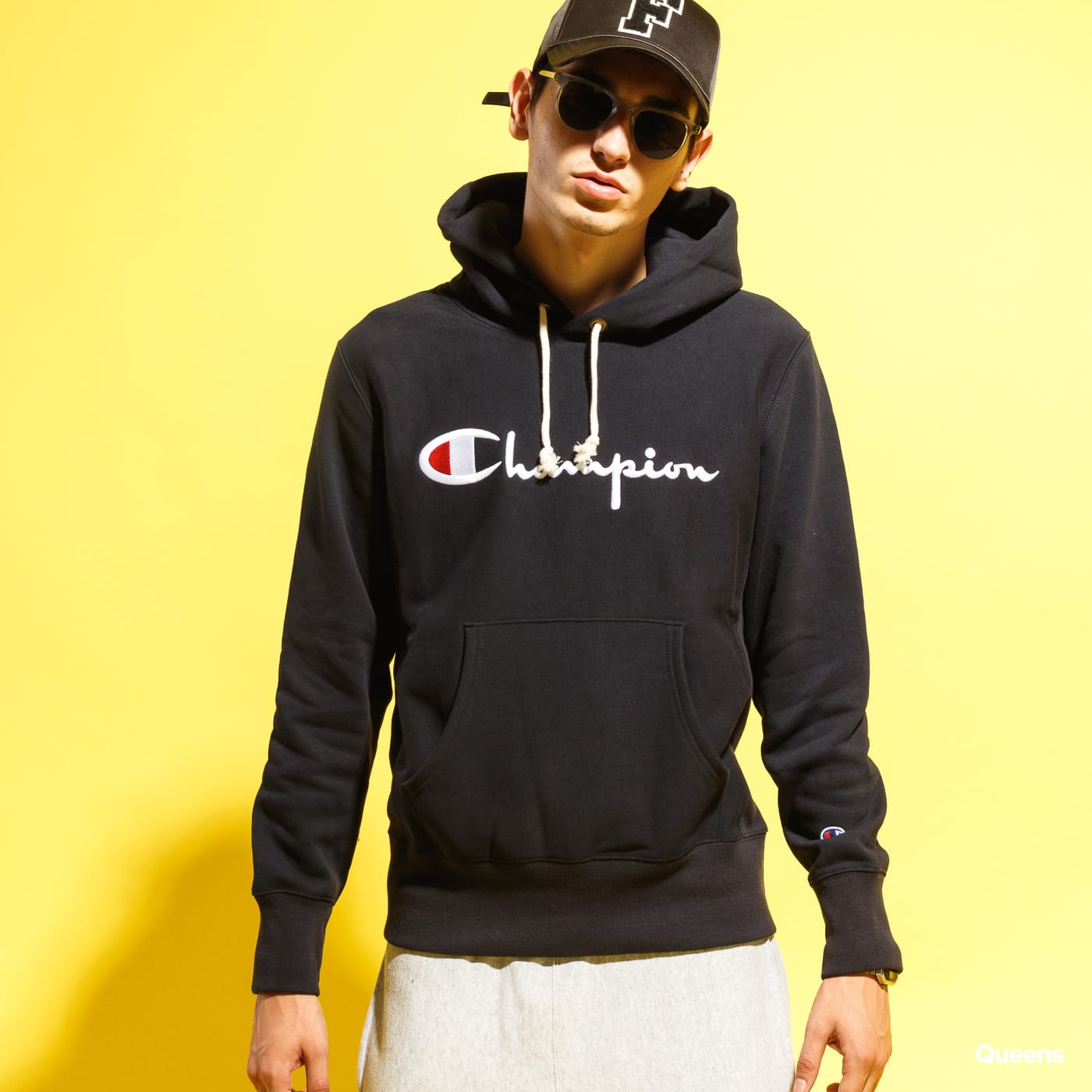 Champion Reverse Weave Hooded navy