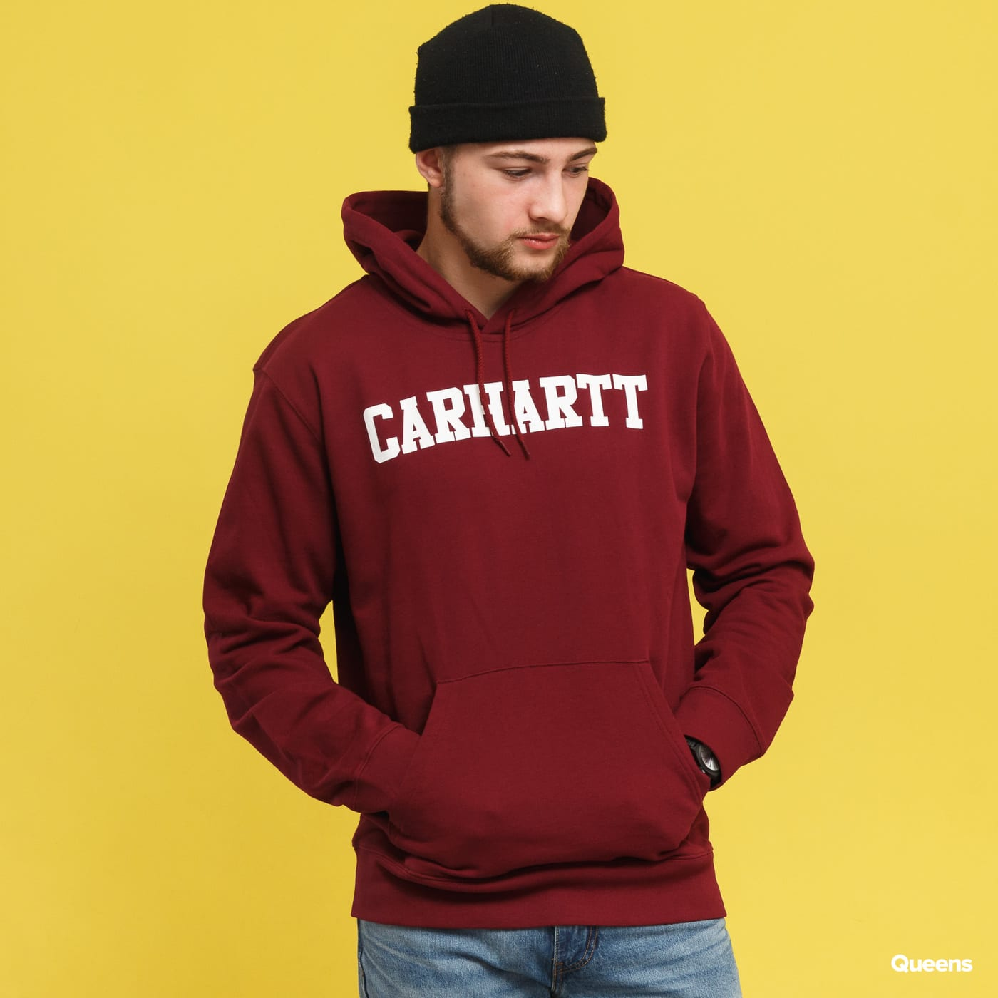 Carhartt WIP Hooded College Sweat burgund