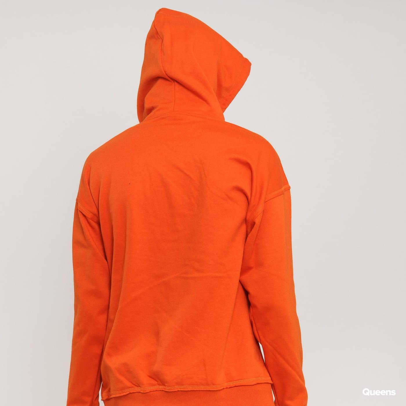 Urban Classics Oversized Sweat Hoody oranžová