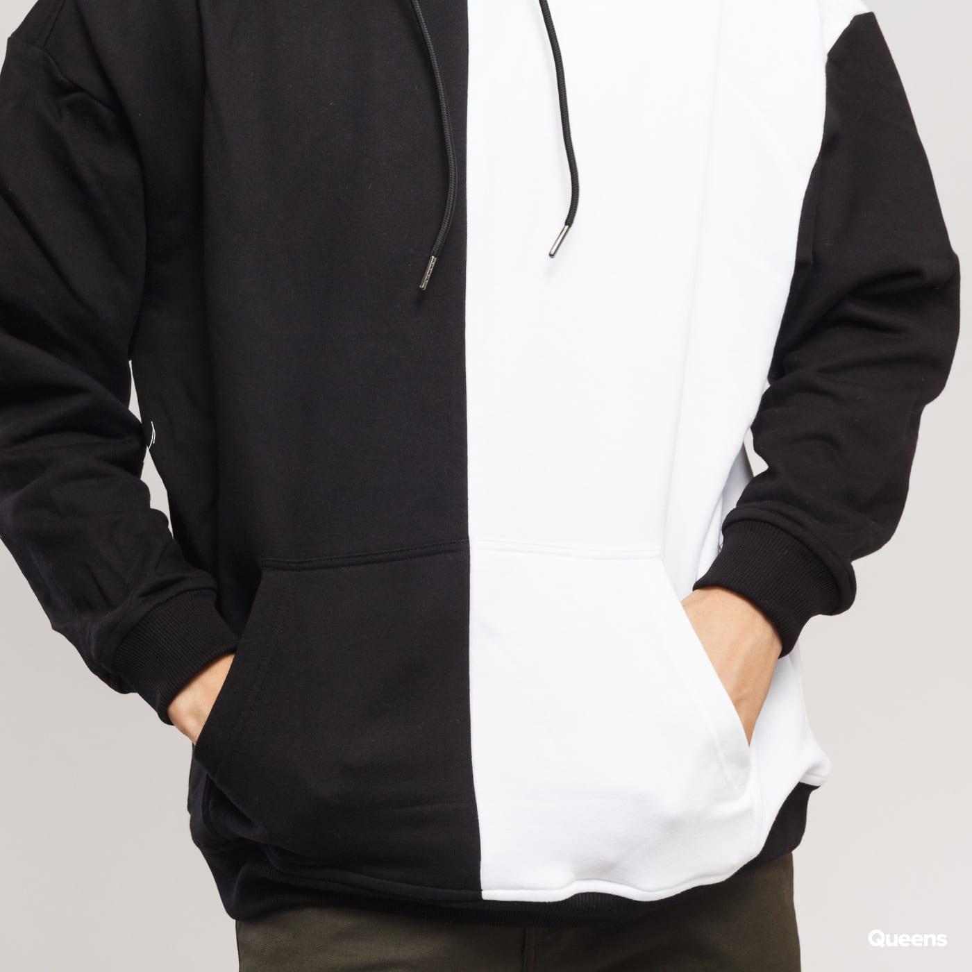 Urban Classics Oversized Harlequin Hoody čierna / biela