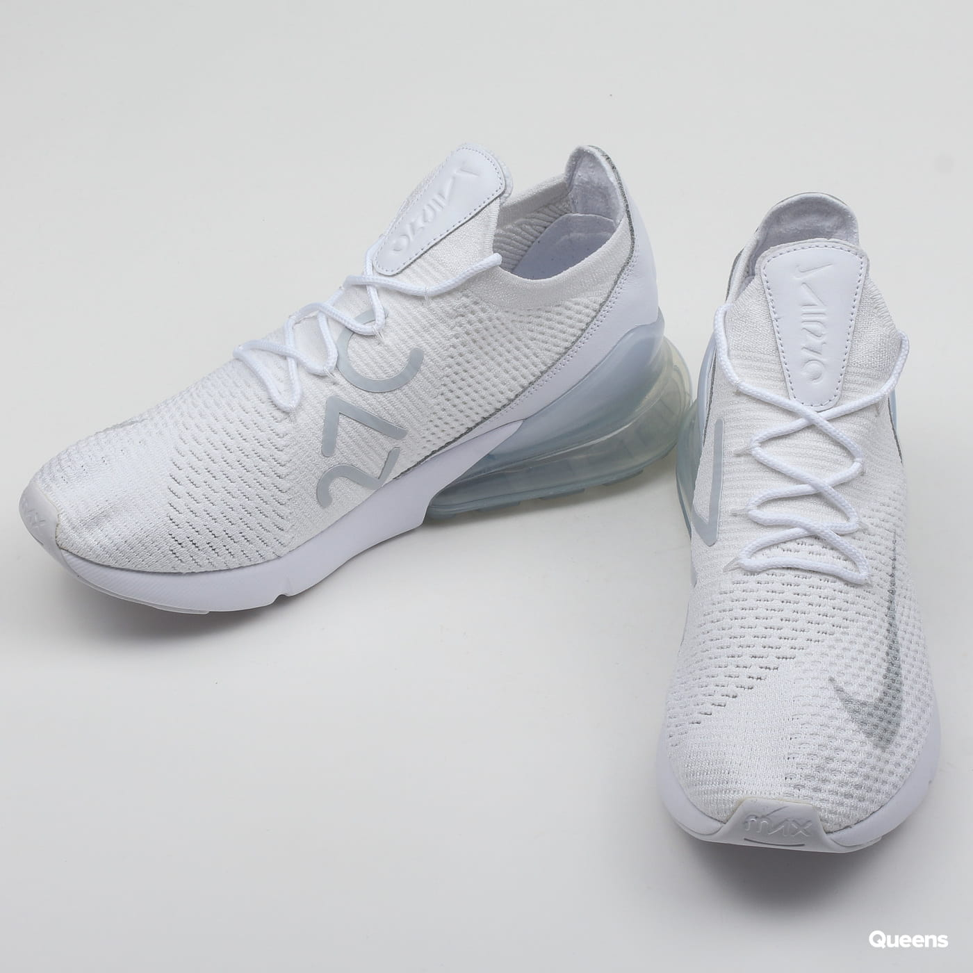 Nike Air Max 270 Flyknit white / pure platinum - white