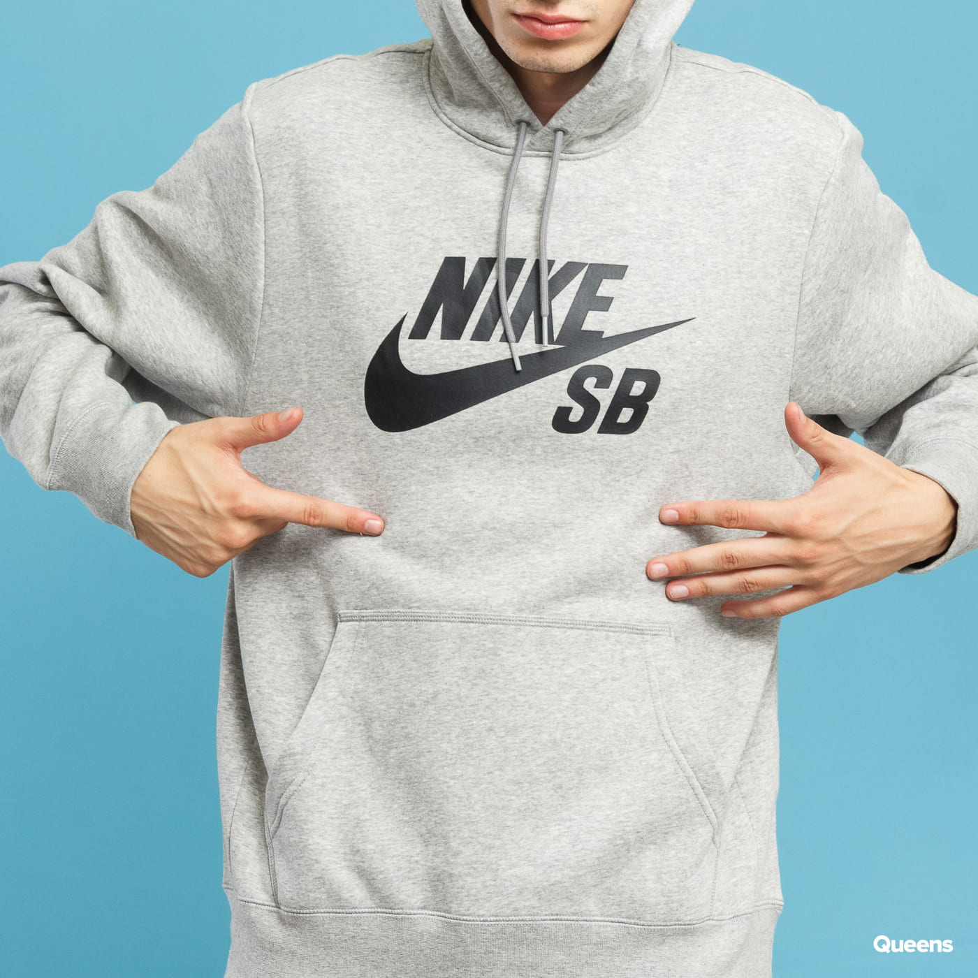 Nike SB Icon Hoodie PO ES grey melange