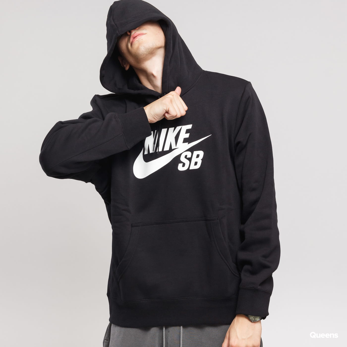 Nike SB Icon Hoodie PO ES schwarz