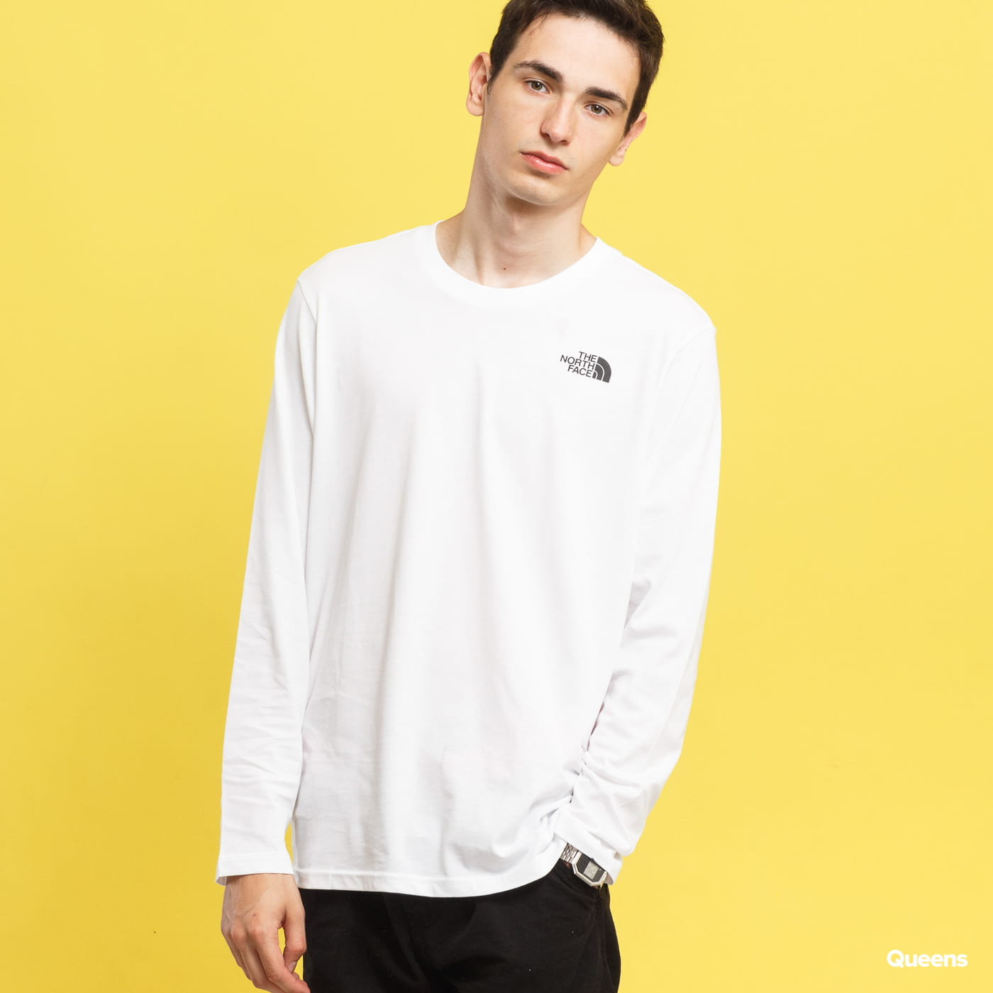 The North Face M L/S Easy Tee white