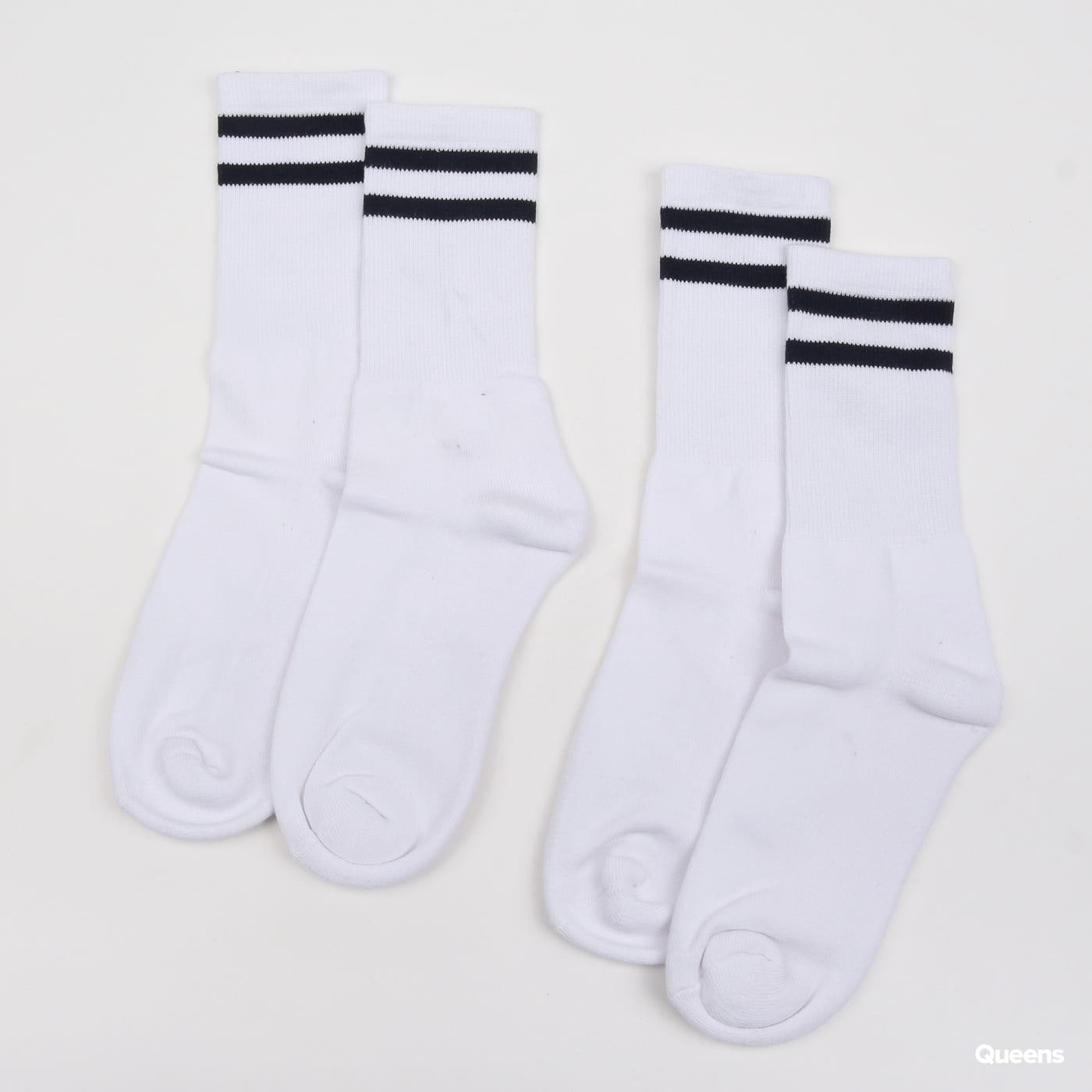 Urban Classics 2-Stripe Socks 2-Pack weiß / marine