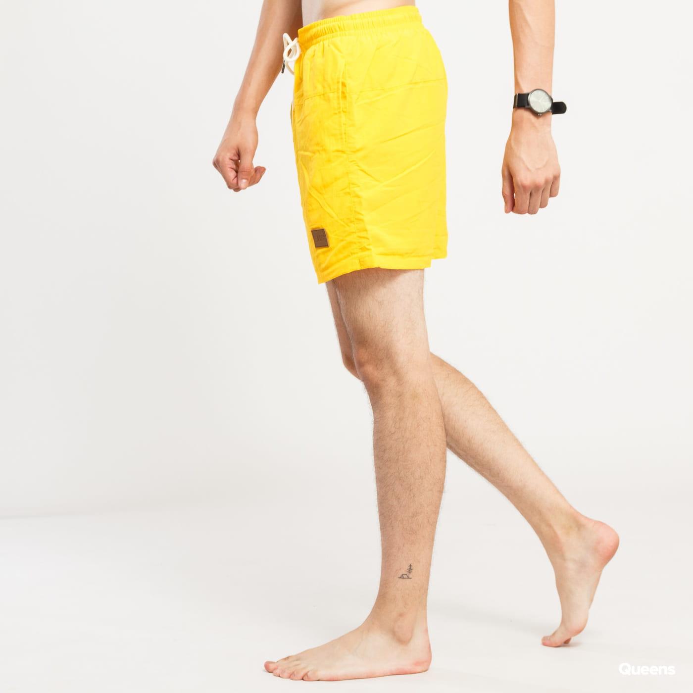 Urban Classics Block Swim Shorts yellow