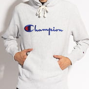 Champion Reverse Weave Hooded melange šedá