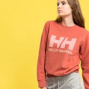 Helly Hansen W Logo Crew Sweat melange tmavě růžová