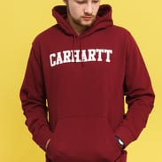 Carhartt WIP Hooded College Sweat vínová
