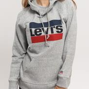 Levi's ® Graphic Sport Hoodie melange šedá