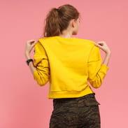 Urban Classics Ladies Insert Striped Crew žlutá / bílá / černá