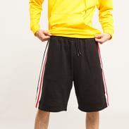 Urban Classics Stripe Sweatshorts černé / bílé / červené
