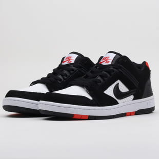 b6005d9b157f Nike SB Air Force II Low black   black - white - habanero red