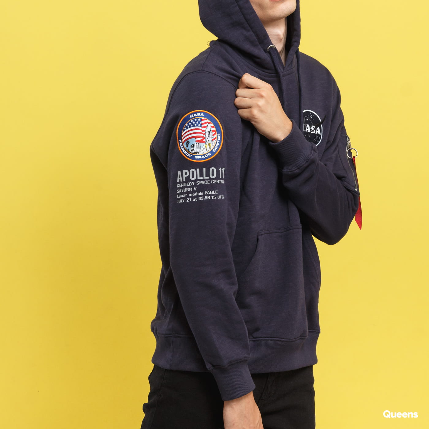 Alpha Industries Apollo 11 Hoody Marine